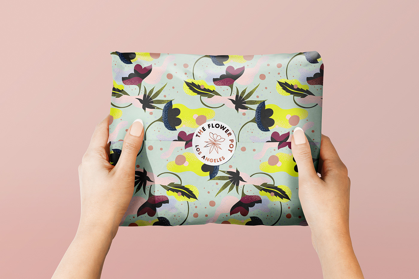 Outfit Branding & Design The Flower Pot Parcel Packaging Gift