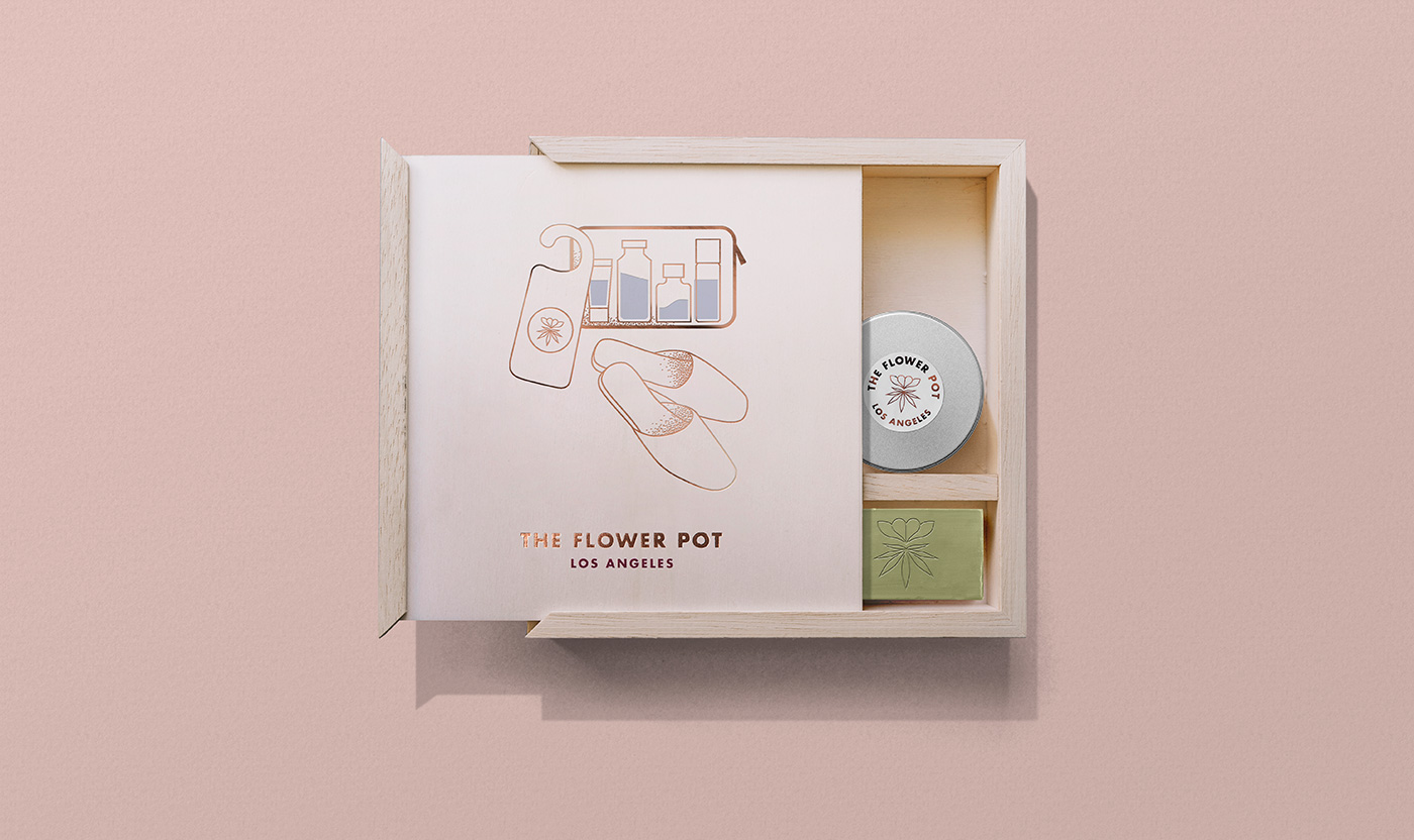 Outfit Branding & Design The Flower Pot Hotel Amenities Box