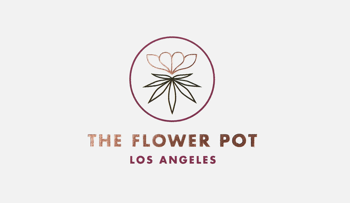 Outfit Branding & Design The Flower Pot Logo