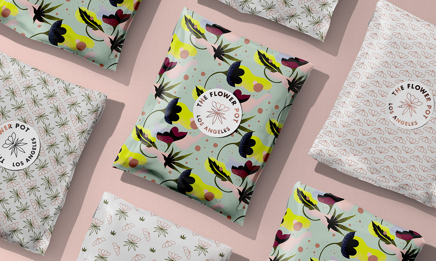 Outfit Branding & Design The Flower Pot Parcel Packaging