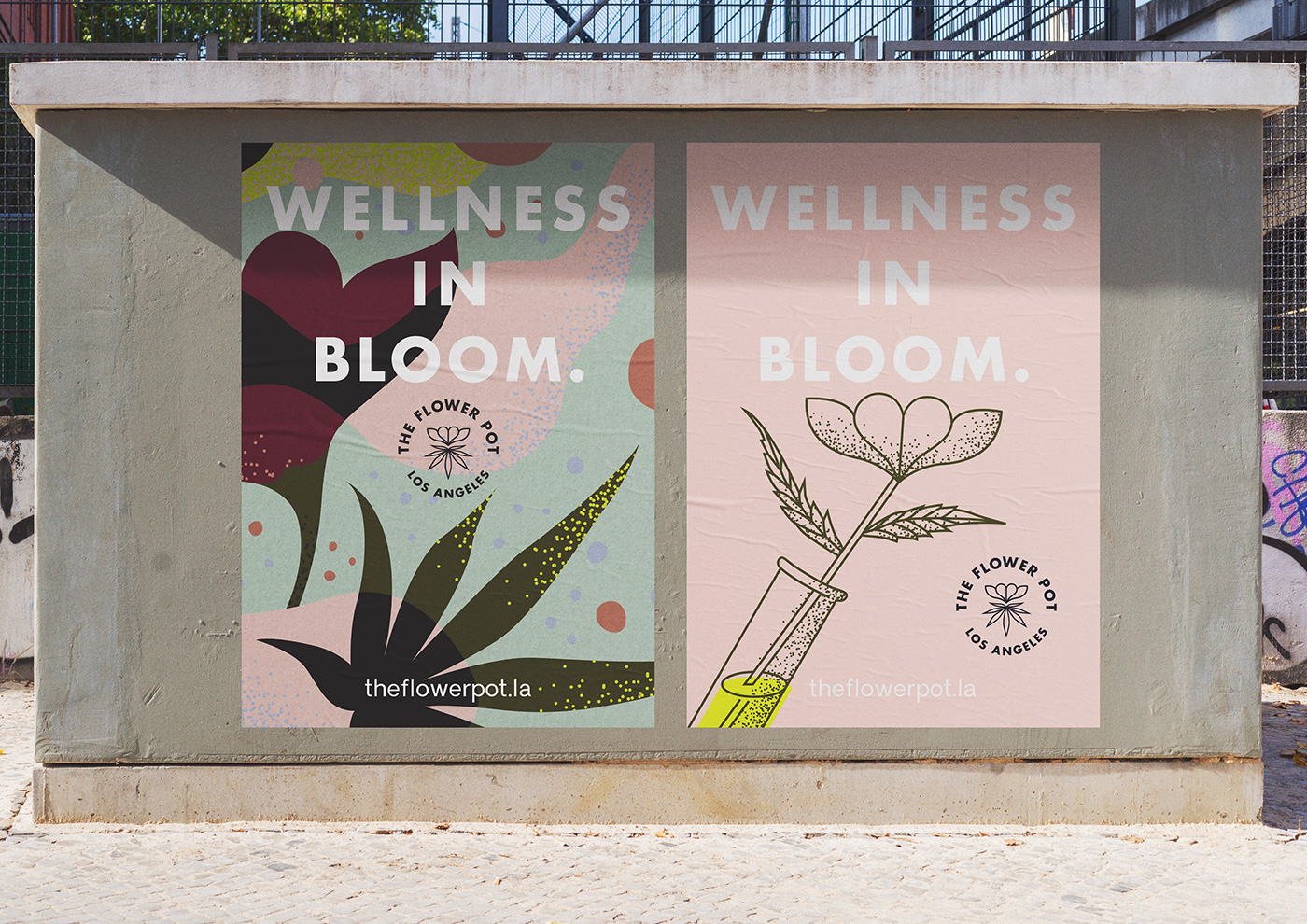 Outfit Branding & Design The Flower Pot Street Poster Design