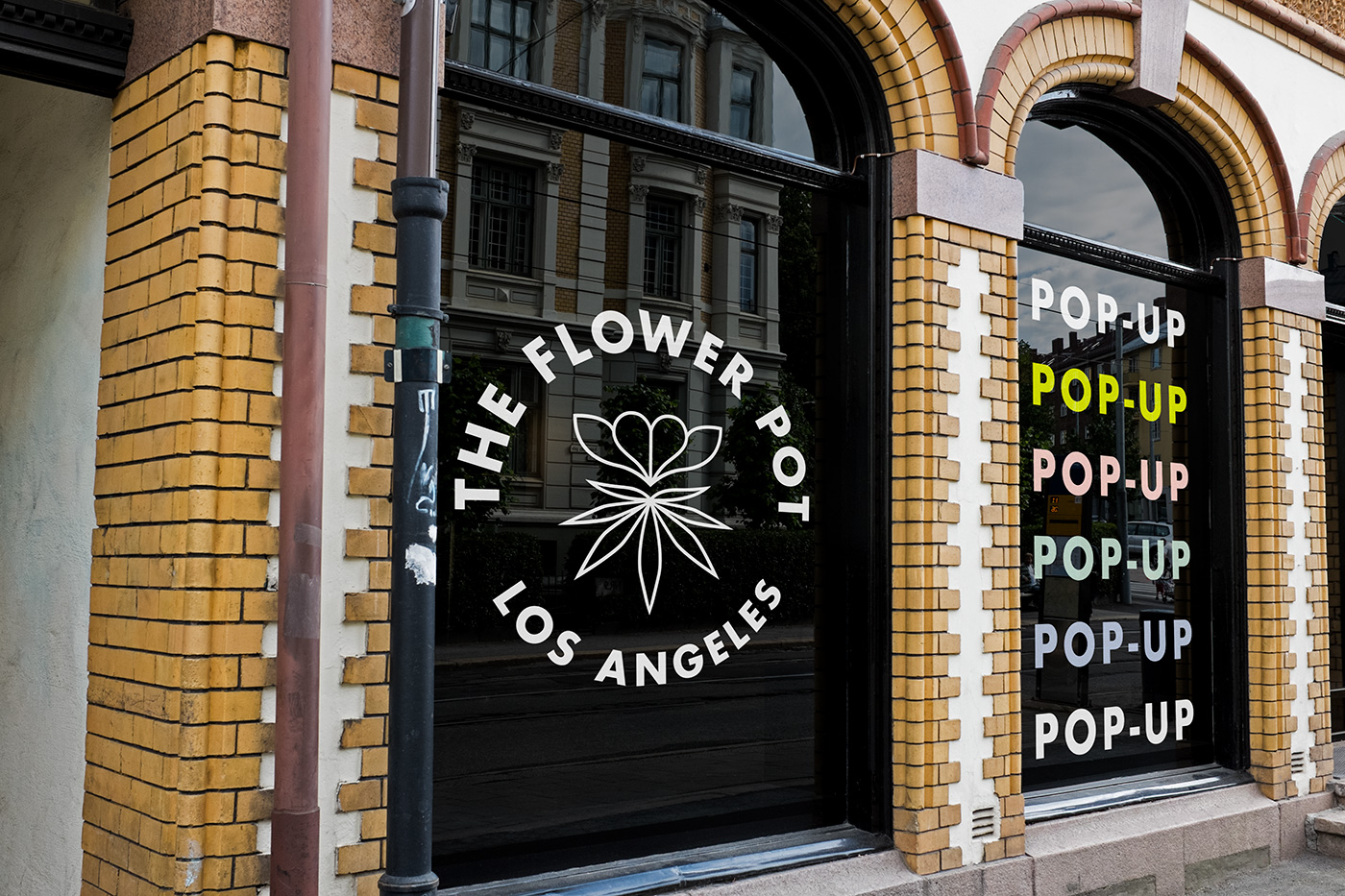 Outfit Branding & Design The Flower Pot Window Signage