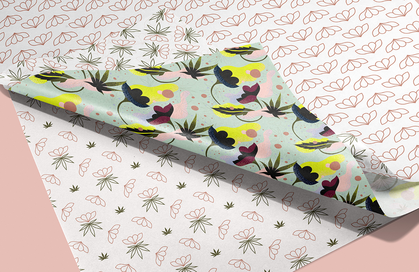 Outfit Branding & Design The Flower Pot Wrapping Paper