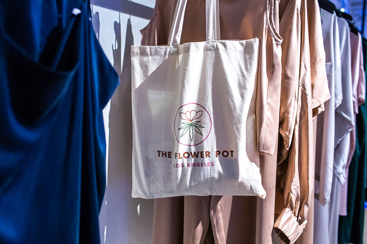 Outfit Branding & Design The Flower Pot Tote Hanging Event Photo