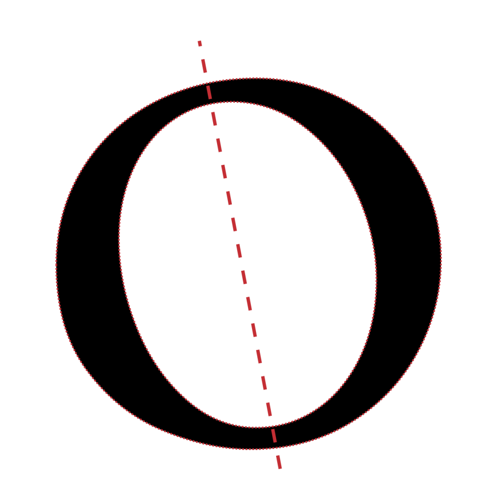 Classic Old Style Humanist Diagonal Axis
